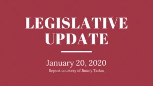 Read more about the article Legislative Update – 01/20/2020